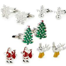 Christmas Tree Snowflake Crystal Cufflinks Fashion Men's Shirt Cuff Links