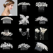 Bridal Wedding Glitter Crystal Hair Comb Hair Clip Headpieces Hair Accessories