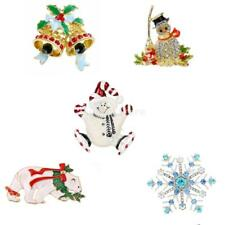 Beautiful Christmas Themed Gift Alloy Rhinestone Fancy Color Brooch Pin Jewelry