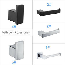 Brass Matt Black Bathroom Accessories -Towel Rail Toilet & Roll Holder&Robe Hook
