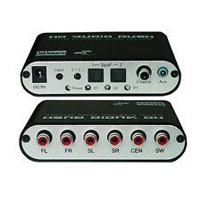 Digital Audio Decoder Dolby DTS AC-3 Optical SPDIF Coaxial to Analog 5.1 Stereo