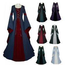 Medieval Dress Women's Vintage Victorian Renaissance Gothic Dress Costume Witch