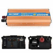 Car Power Inverter 2000W DC 12V/24V to AC 110V LED Electronic Adapter Converter