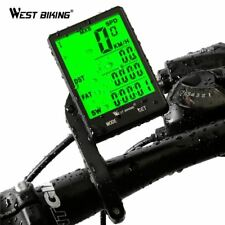 """WEST BIKING 2.8"""" Large Screen Bicycle Computer Wireless and wired Rainproof"""