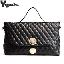 New Woman Handbag Big Boston Shoulder Bags Plaid Quilted Leather Messenger Bag