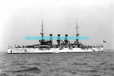 USN Battleship USS Minnesota BB-22 Black n White Photo Military 1907 BB 22