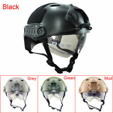 NEW Outdoor Military Airsoft Paintball Tactical Protective Fast Helmet W/Goggle