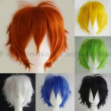 Unisex Short Curly Straight Cosplay Wig Anime Hair Tail Full Wig Women Mmen Thf8