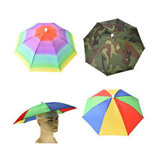 Outdoor Foldable Sun Umbrella Hat Golf Fishing Camping Headwear Cap Head Hat BH