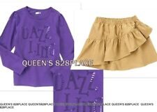 Nwt Crazy 8 lot set girls size 4 4T purple sequin top shirt tiered skirt outfit