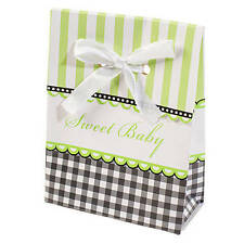 12 GREEN Baby Shower Favor Boxes for Favors at Your Baby Shower -For Boy or Girl