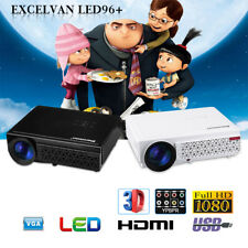 LED 1080P 5000Lumen HD Multimedia Portable Projector 3D Home Theater Cinema HDMI