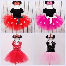 Infant Baby Girl Kid Polka Dots Costume Party Outfit Fancy Tutu Dress Headband