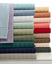 US Deep Pocket Fitted Sheet 1000TC Egyptian Cotton Cal-King Size Striped Colors