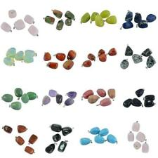 5pcs Natural Irregular Gemstone Finding Charms Beads Pendant For Necklace