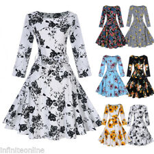 Women's Vintage 1950s 50s Rockabilly Pinup Formal Evening Party Prom Swing Dress