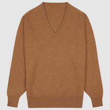 Community Clothing Men's Peat Wool V-Neck Jumper