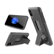 For Iphone X Black Hard Case Cover Belt Clip 2 In 1 Holster Stand Case