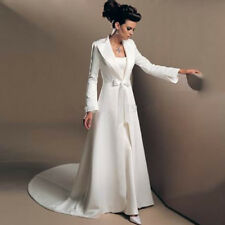 Elegant Wedding Cape Bride Custom Made New Satin Long Sleeve Evening Coat bolero