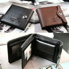 Men Wallet Leather Brown Credit Id Card Holder Slim Purse Gift