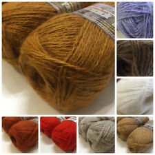 70% Goat down Wool 30% Acrylic Yarn Knitting Crochet Lot 4 skns 400g/14oz Russia