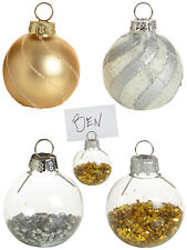 Set Of 6 Bauble Place Card Holders Name Christmas Table Decoration Wedding