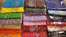 Lot 12 100%Cotton Paisley Print Scarf Bandanas Head Wrap Wristband Pick UP color