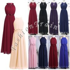 Womens Halter Chiffon Evening Party Prom Formal Party Bridesmaid Long Maxi Dress