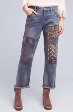$168 NWT Anthropologie Pilcro Hyphen Mid-Rise Boyfriend Jeans 27 - 28 *TOP RATED
