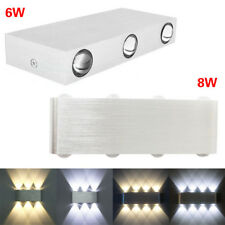 Aluminum 6W 8W 85-265V Rectangle LED Wall Sconces Lights Hall Porch Walkway Lamp