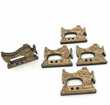Wood color Wooden Sewing Machine Buttons Sewing crafts scrapbooking 30mm