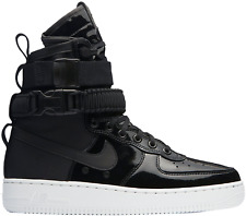 Nike Women Air Force 1 SF Ruby Rose Premium Black Patent AJ0963-001 TOTE