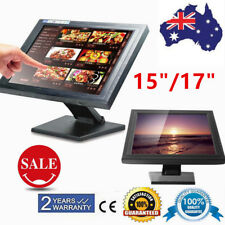 "15"" 17"" Inch LCD Touch Screen Monitor USB TFT VGA POS Retail Kiosk Restaurant AU"