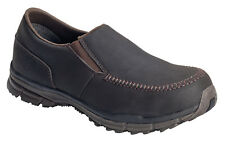 Nautilus Mens Steel Toe SD Moc Toe Slip On W Brown Leather Shoes