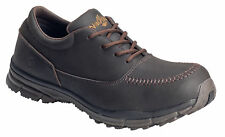 Nautilus Mens Steel Toe SD Moc Toe Oxford M Brown Leather Shoes