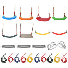 Outdoor Garden Swing Set Climbing Frame Swing Seat Rope Strap Kids Playset Toy