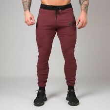 New  Muscle Nation Unisex Fit Tapered Joggers – Burgundy