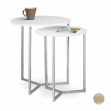 Side Table Coffee Table End Table Set of 2 Night Stands Lounge Table Sofa Table