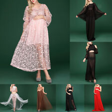 Maternity Mesh Gown Maxi Photography Dress for Pregnant Photo Shoot Party Dress