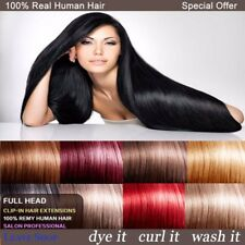 Deluxe Any Colour Clip In Remy Human Hair Extensions Full Head Free Shipping