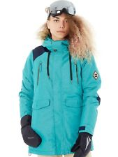 686 Teal Heather Diamond Ceremony Insulated Womens Snowboarding Jacket