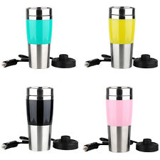 400ML Travel Car Heating Cup 12V Stainless Steel Electric Coffee Tea Thermos Mug