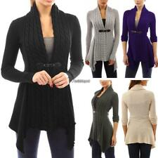 Women Casual Long Sleeve Knitted Cardigan Loose Sweater Jacket Coat WT88