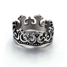 316L Stainless Steel Crown Ring Vintage GothicTribal Punk Fashion Jewelry Rings