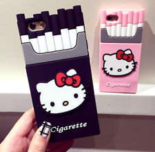 3D Cute Hello Kitty Soft Protective Shell Case For iPhone 5 5S SE / 6 6S (Plus)