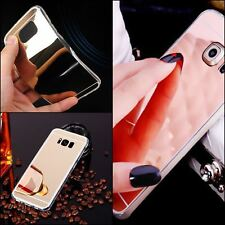 For Samsung S8 S8+ S7 S7 edge Ultra thin Mirror Metal View TPU Gel Case Cover