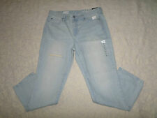 GAP 1969 JEANS WOMENS SIZE 30 REAL STRAIGHT MID-RISE DESTRUCTED STRETCH NEW NWT