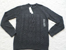CALVIN KLEIN JEANS SWEATER MENS SIZE M CREWNECK CHARCOAL HEATHER NEW WITH TAGS