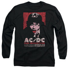 ACDC AC DC HIGH VOLTAGE CONCERT TOUR LIVE 1975 Adult Long Sleeve T-Shirt S-3XL
