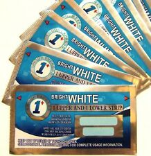 NEW BRIGHT WHITE ONE HOUR GENUINE TEETH WHITENING STRIPS